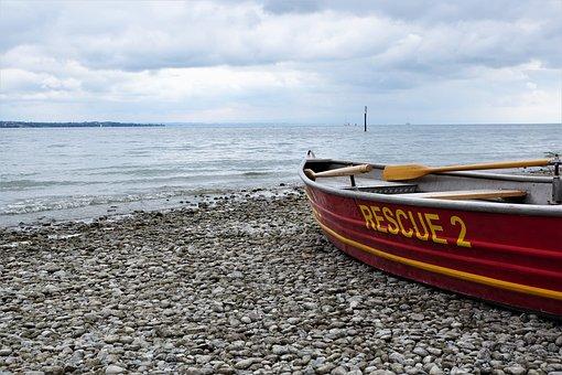 ボート, 旅行, コンスタンス湖, 水, 救助, 準備, 帆, 泳ぐ, 嵐