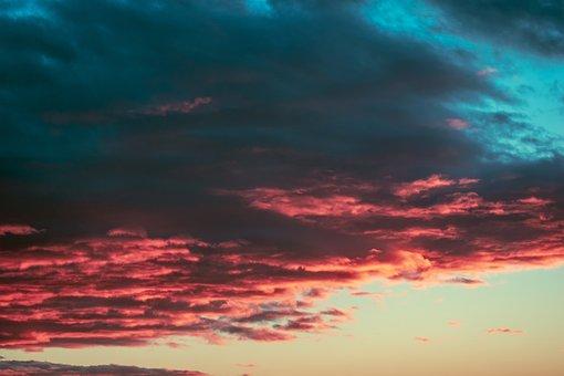 Ουρανό, Σύννεφα, Breaking Dawn, Χρώματα