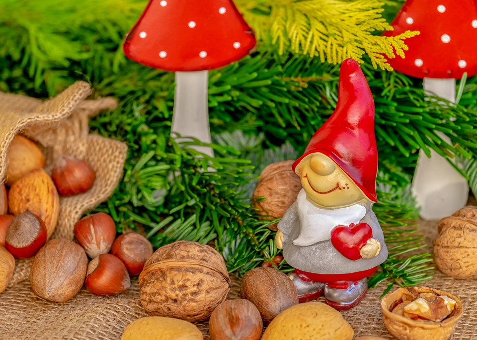 Julemotiv, Imp, Figur, Dværg, Strømpe Cap, Rød, Nisser