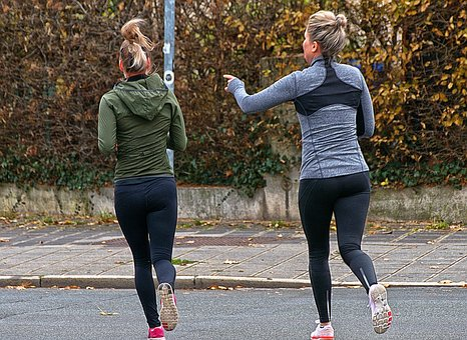 Joggers, Women, Road, Run, Jog, Movement