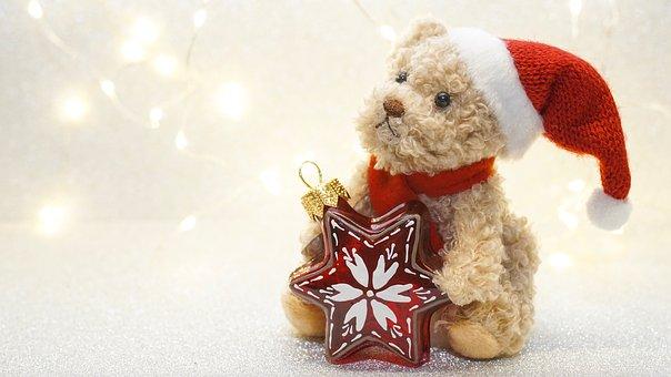 Noël, Avent, Teddy, Ours En Peluche