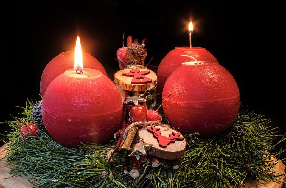 Adventskranz, Zweiter Advent, Advent, Adventszeit