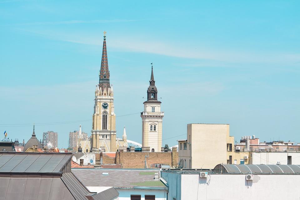 Нови-Сад, Downtown, Main Square, Srbija, Сербия