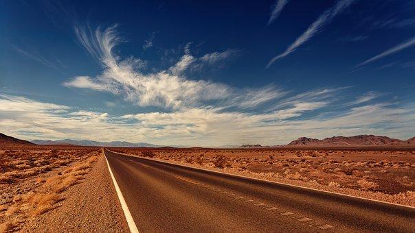 Strada, Nevada, Nubi, Bird, Paesaggio