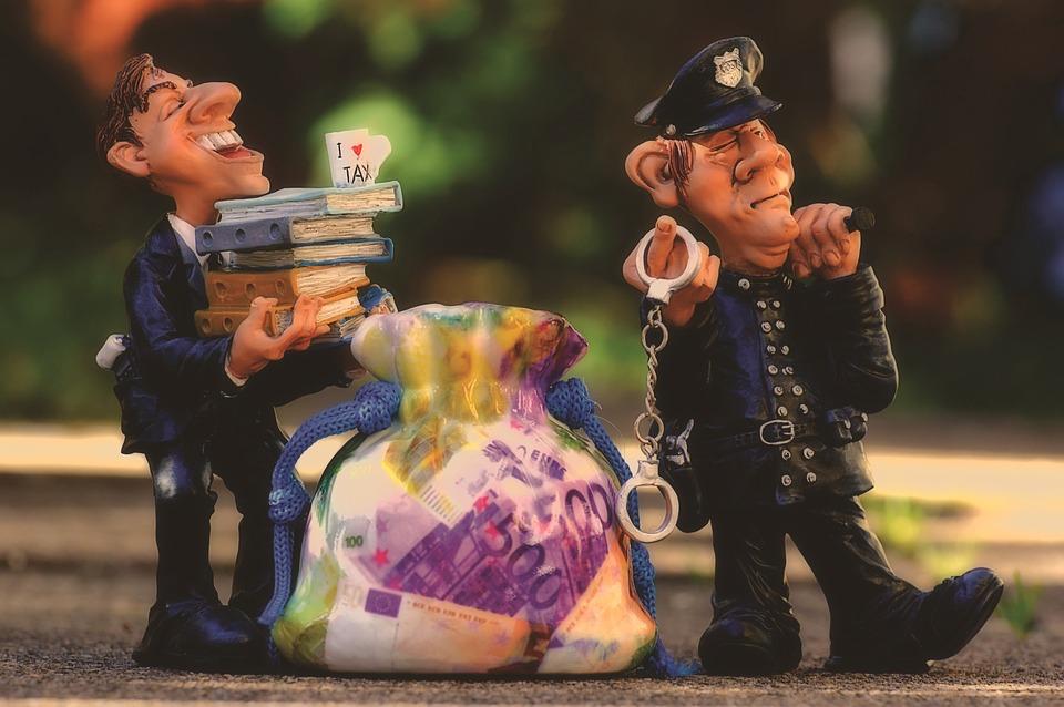 税金, 脱税, 警察, 手錠, 詐欺, 租税コンサルタント, 金融, お金, 納税申告, 請求, 所得税