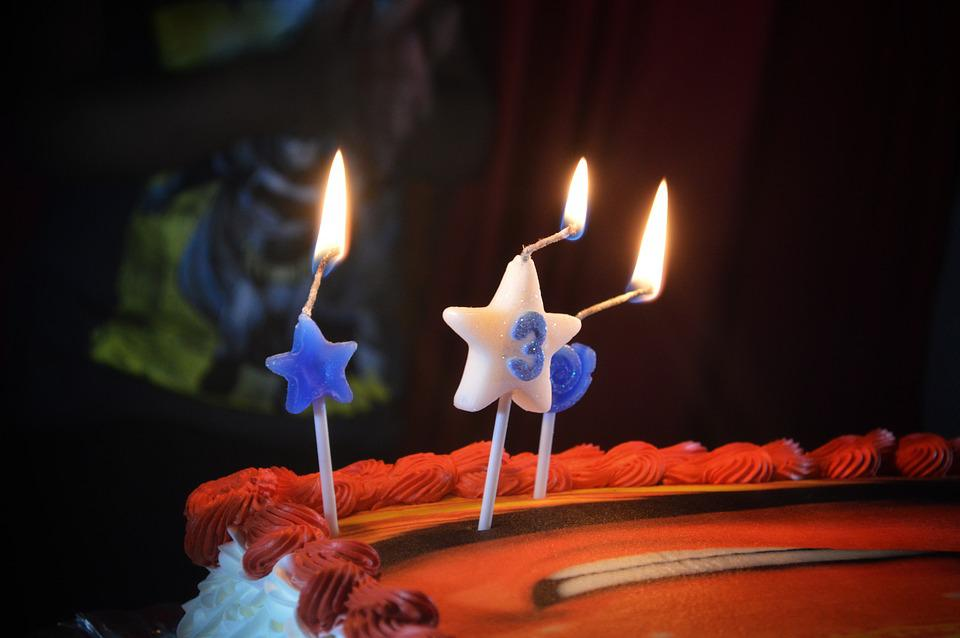 Party, Birthday, Number 3, Cake, Candle, Focus, Camera