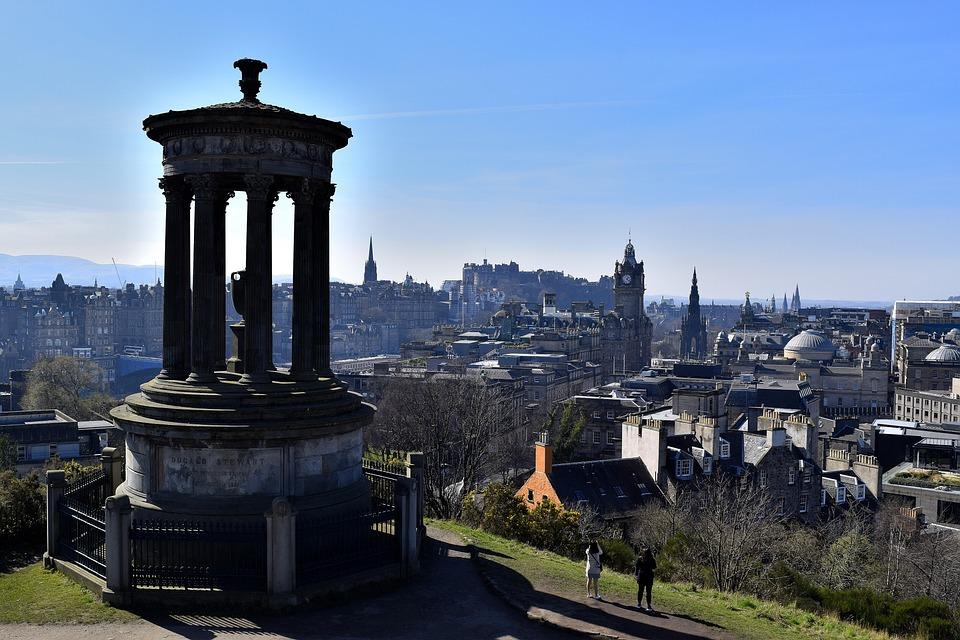 Edinburgh, Calton Hill, Şehir, Turizm, Iskoçya, Avrupa