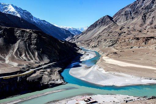 Zanskar River, Indus River, Mountains