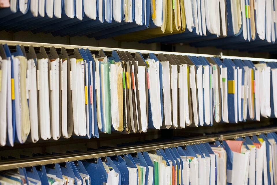 จดหมายเหตุ, ไฟล์, ลงทะเบียน, สำนักงาน, เก็บถาวร, เอกสาร