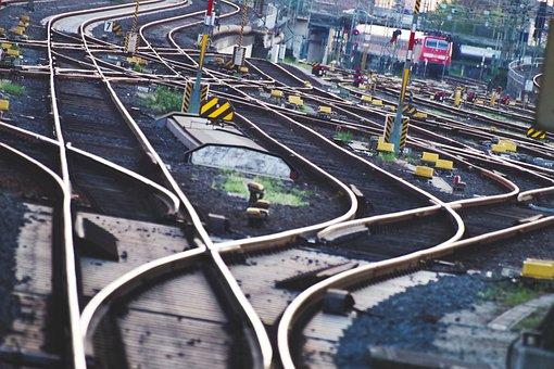 Gleise, Schienen, Eisenbahn