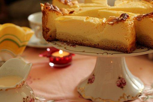 Cake, Cheesecake, Board, Candle, Sweet