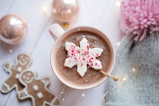 Pink, Christmas, Hot Chocolate, Cozy