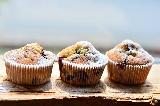 Muffins, Blueberry Muffins, Bake, Cake