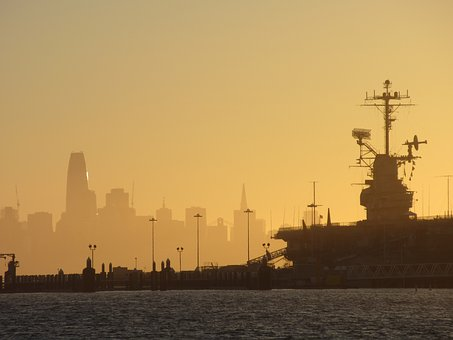 Alameda, Ca, Skyline, Air Pollution, San