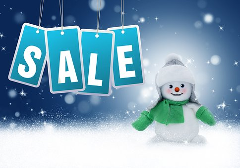 sale snowman new year discounts