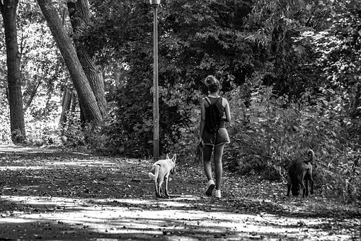 Black And White, Spacer, Walk, People