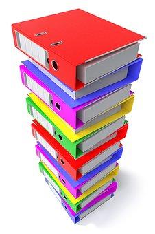 バインダー, オフィス, ドキュメント, 分離, ビジネス, 書類, フォルダー