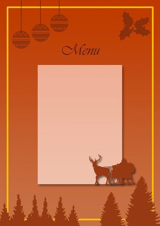 Menü Weihnachten.Weihnachten Menü Essen Kostenloses Bild Auf Pixabay