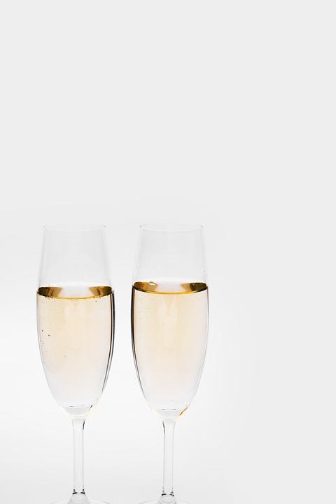 Champaña, Gafas, Prost, Sylvester, Día De Año Nuevo