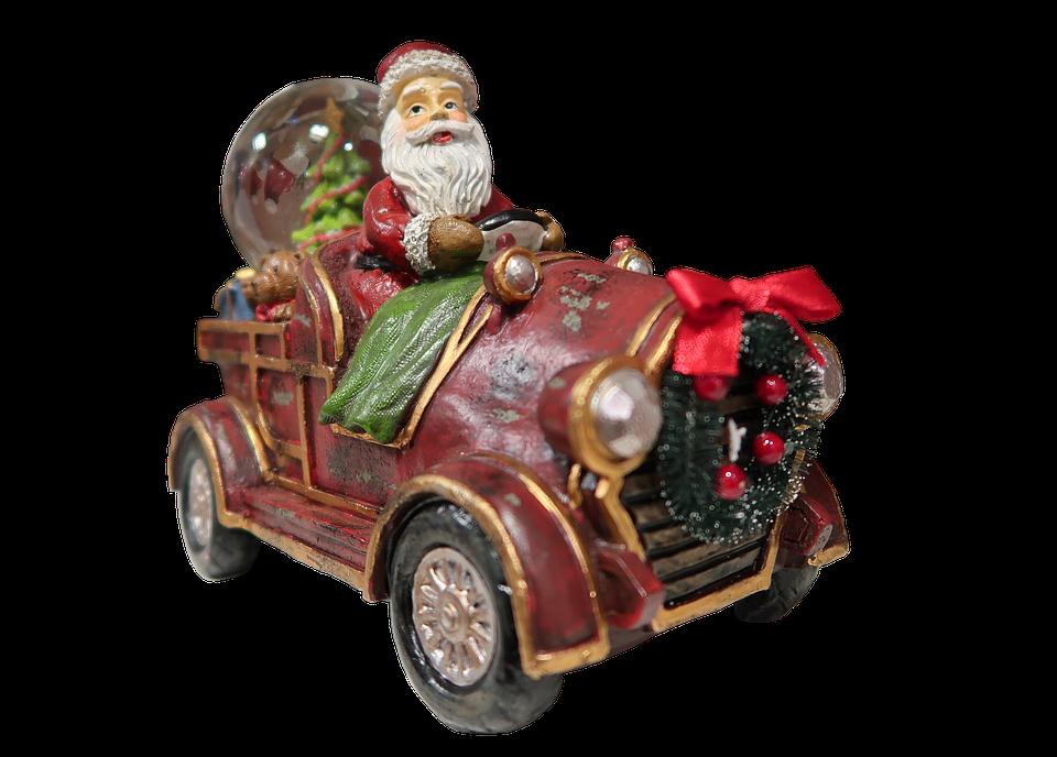 Weihnachtsmann Auto Weihnachten Kostenloses Foto Auf Pixabay