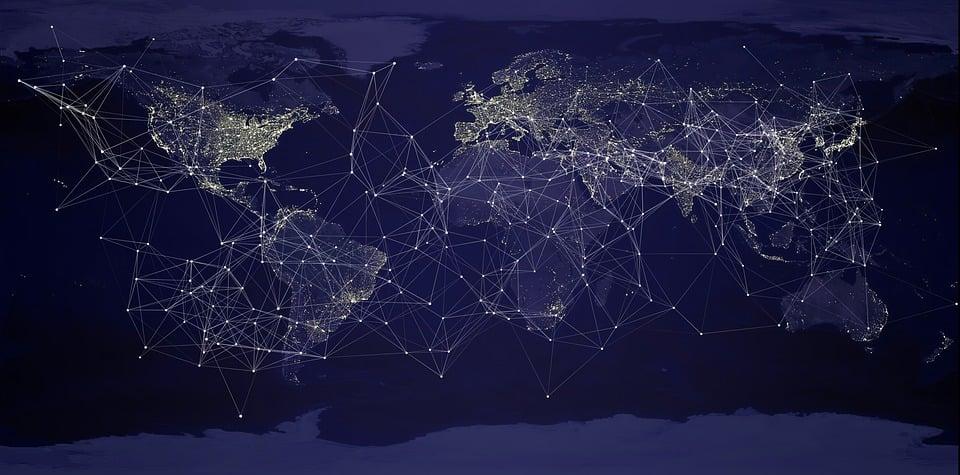 地球, グローバリゼーション, ネットワーク, 世界, グローバル, 通信, インターネット, Web, 技術