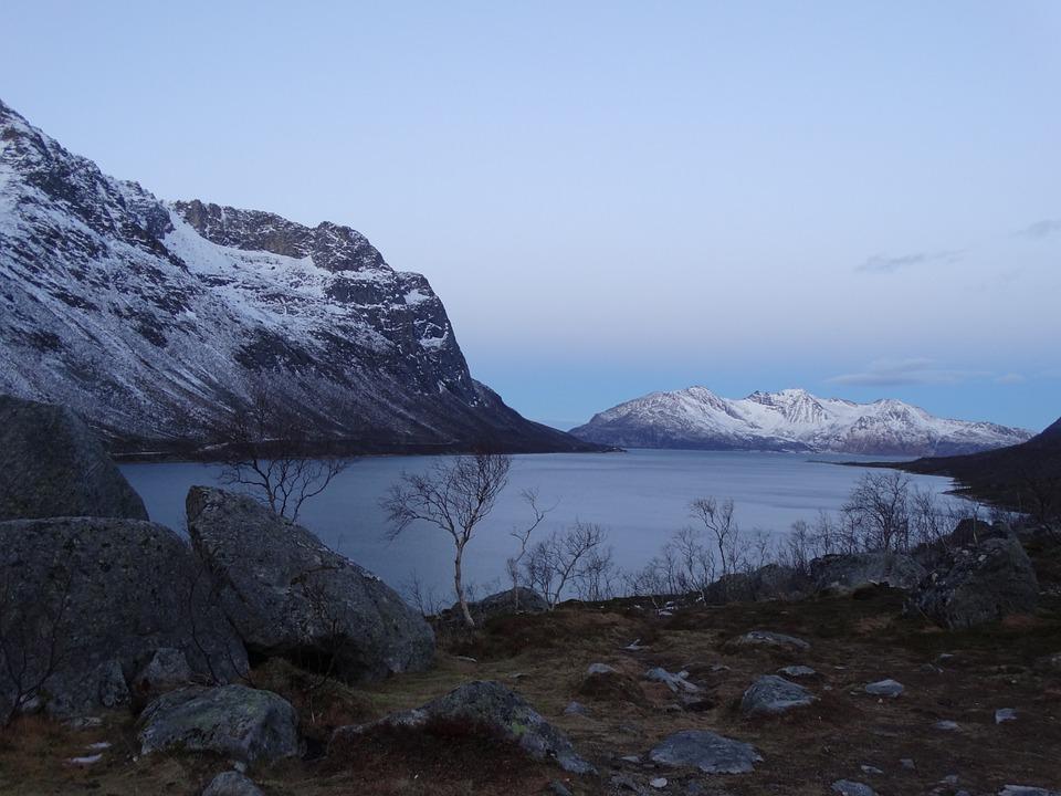 Fjord Norwegen Winter Kostenloses Foto Auf Pixabay