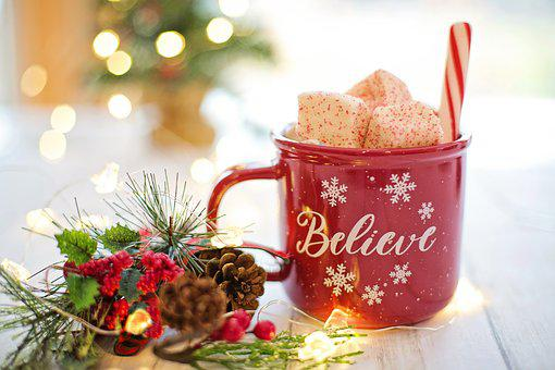 Christmas, Hot Chocolate, Cocoa, Believe