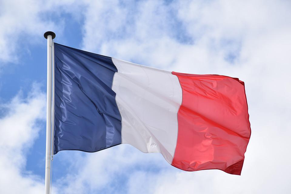 Flag, Flagg Of, France, French, Blue, White, Red, Sky