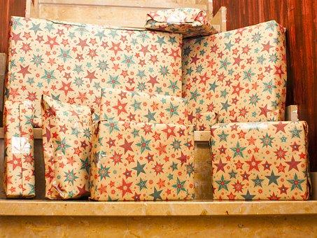 ギフト, クリスマス, 驚き, それを提示します。, お祝い, この