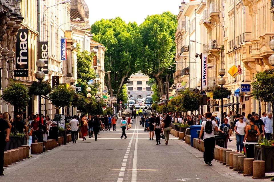 Avignon, Kota, Ramai Jalan, Adegan, Kehidupan, Sibuk