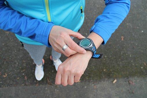 スポーツ, クロック, ジョギング, 時間, フィットネス, 時計