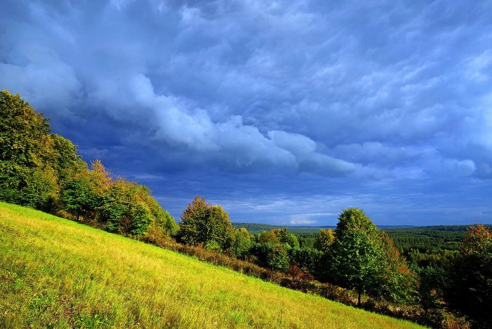 Bukowa Góra, Roztocze, Burzowe Chmury, Krajobraz