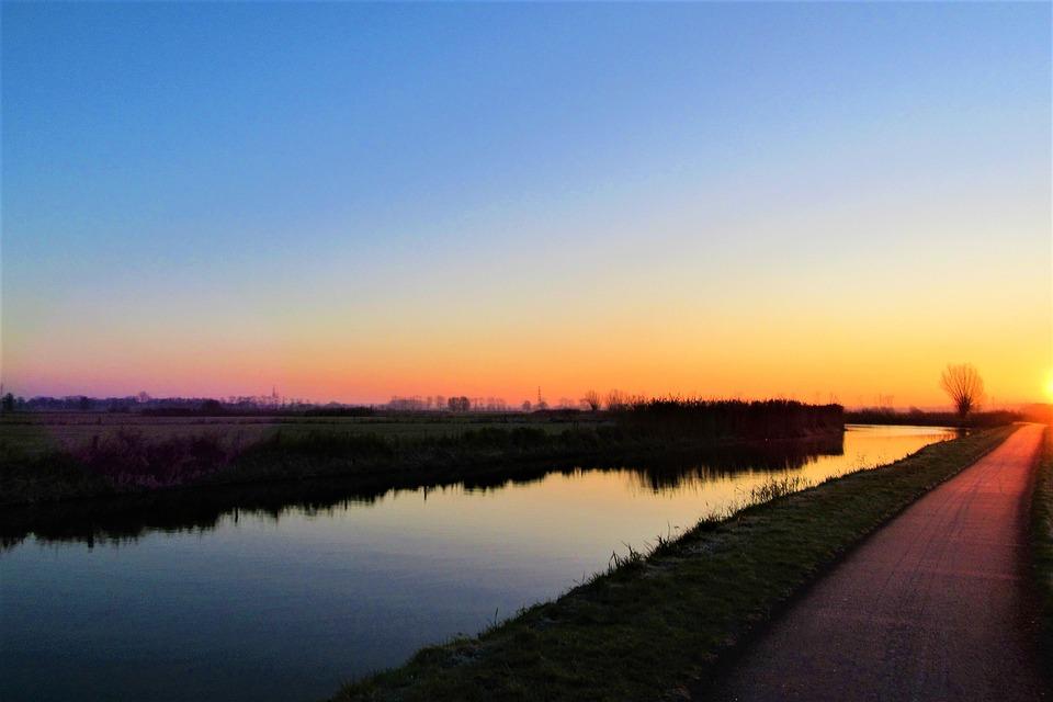 Sunrise, Tomorrow, Water, Landscape, Nature, Heaven