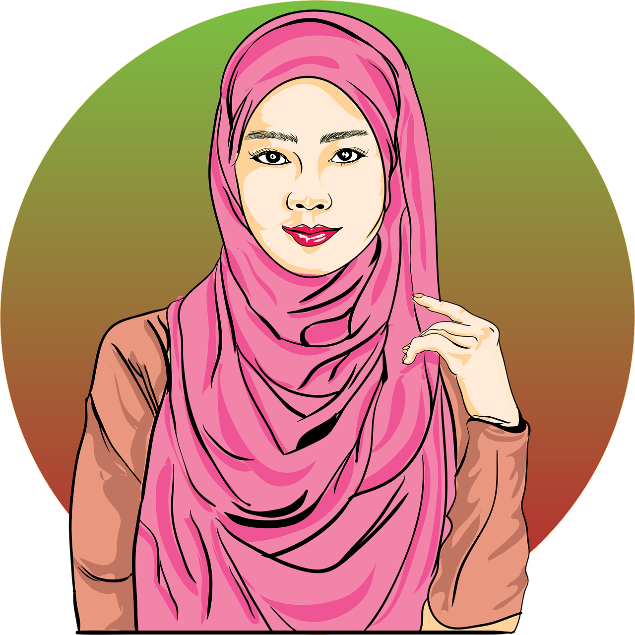 Hijab Muslim Women Free Vector Graphic On Pixabay