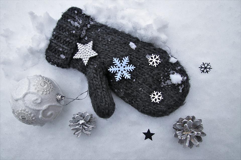 冬, ウール, 手袋, グレー, 星, 白, 繊維, ファブリック, 寒くないです, 雪, 霜, ホワイト