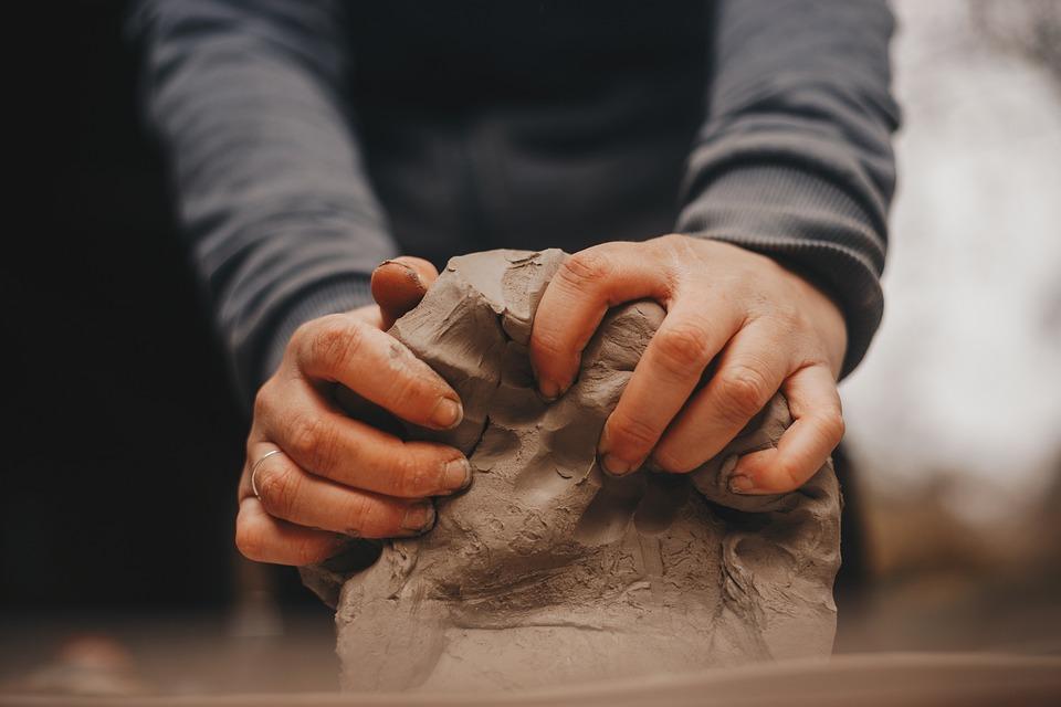 Ton, Hände, Kunst, Form, Handarbeit, Finger, Töpfern