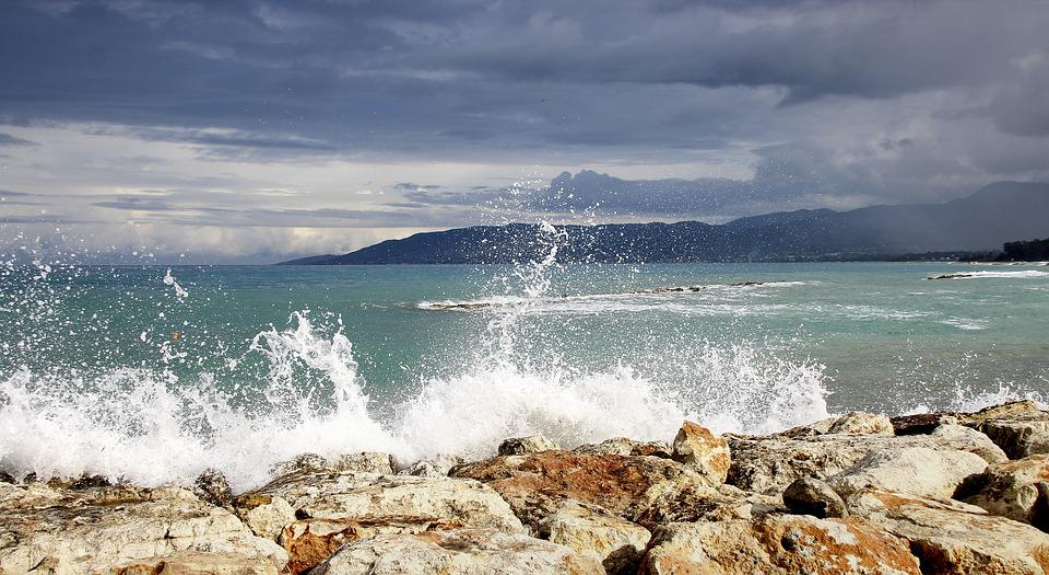 Wave, Coast, Spray, Clouds, Surf, Sea, Beach, Water
