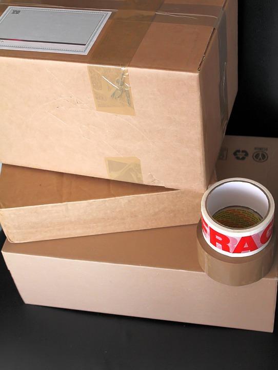 상자, 소포, 배달, 골 판지, 브라운, 패키지, 택배, 판지, 포장, 주소, 레이블, 접착 테이프