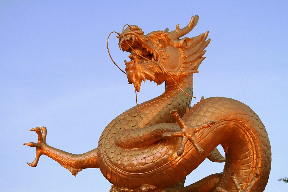 Dragon, Statue, Sculpture, China, Asian, Culture