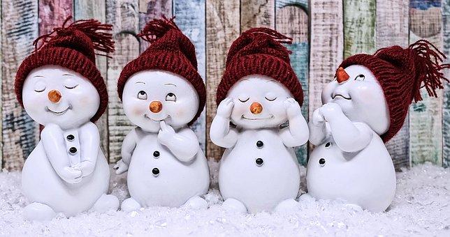 Snowman, Figure, Cute, Winter, Wintry