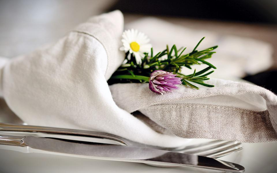 Napkin, Cloth Napkins, Cutlery, Knife, Fork, Elegant