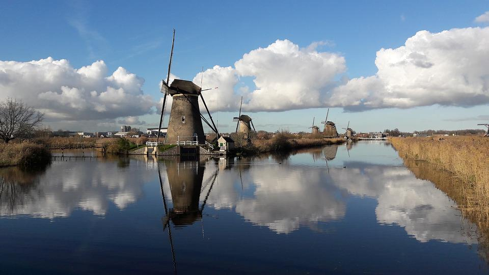Kinderdijk, Mühle, Mills, Niederlande, Holland, Dochte
