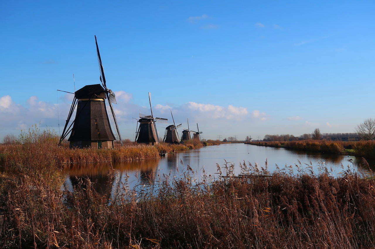 https://pixabay.com/photos/mills-kinderdijk-holland-3888276/