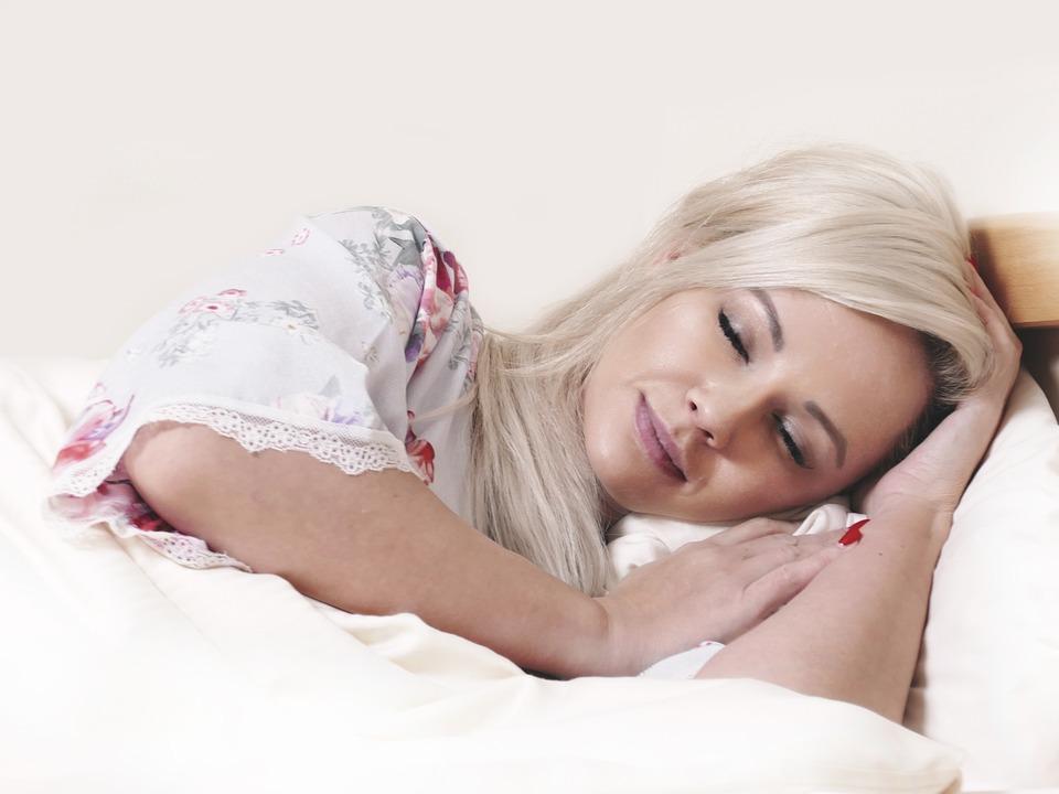 Slaap, Bed, Rest, Dromen, Droom, Vrouw, Portret