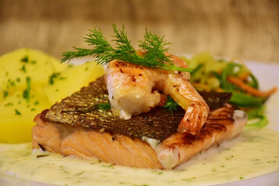 Losos, Ryby, Krevety, Smažené, Vařit, Čerstvý