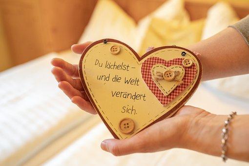 Herz, Spruch, Liebe, Schmetterling, Love