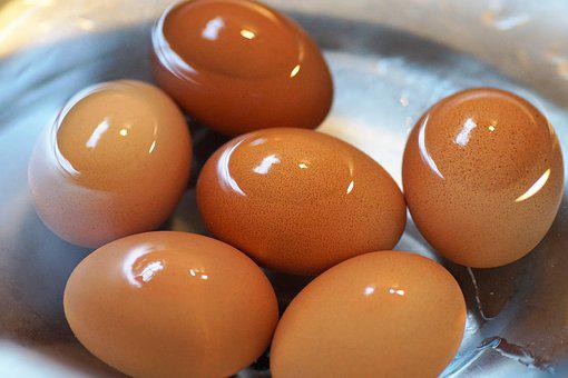 Eggs, Brewed, On, Hard-Boiled, Cool, In