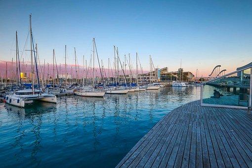 Navires, Port, Réflexions, Océan, Jetée
