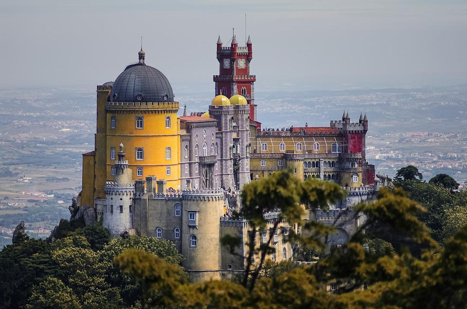 Foam, Castle, Portugal, Historical, Sintra, Colorful