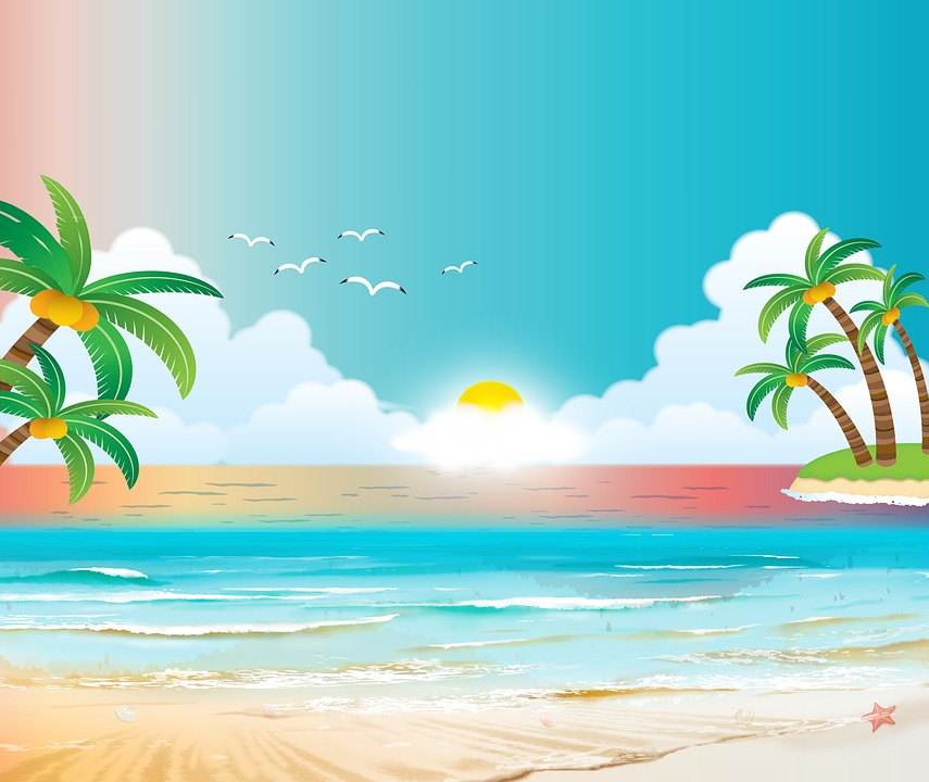 Beach Background Sea Ocean Palm - Free image on Pixabay
